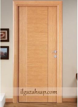 Pvc Kapı Kapalı Kademeli Koyu Bambu