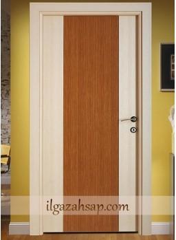 Pvc Kapı Kademeli Mat Beyaz Coco-Parlak Bambu