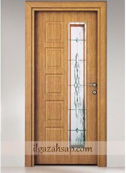 Pvc Kapı Koyu Bambu Camlı