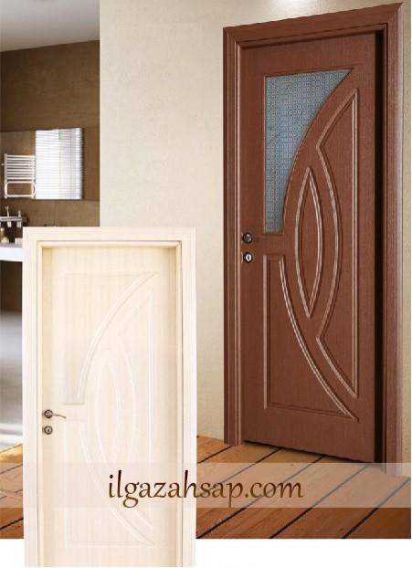 Pvc Kapı Koyu Coco - Beyaz Coco