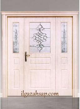 Pvc Kapı Koyu Üçlü Bambu