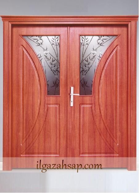 Pvc Kapı Çiftli Huş Camlı